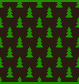 christmas fir tree green dark art seamless pattern vector image