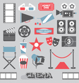 Cinema and Movie Icons and Elements vector image