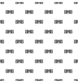 Classic boombox pattern simple style vector image
