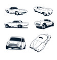 classic cars collection set vector image vector image