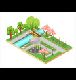 colorful isometric three-dimensional vector image vector image