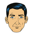 comic face man expression pop art style vector image vector image