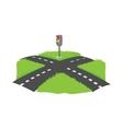 Crossroad icon cartoon style vector image vector image