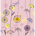 Dandelions flowers vector image