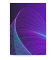digital poster with twisted colored lines mixed vector image