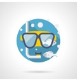 Diving accessory detailed color icon vector image