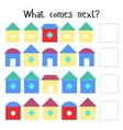 Educational game for children what comes next vector image