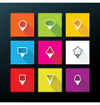 flat icon set - map pins vector image vector image