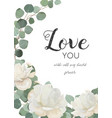 floral design card with white flowers leaves vector image vector image