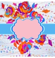 Floral template with blooming flowers EPS 8 vector image