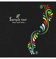 Floral vintage card vector image vector image