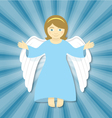 Flying Christmas Angel with Open Arms vector image