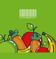 fruits and vegetables super market products vector image vector image