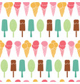 fun ice cream stripes seamless pattern vector image vector image