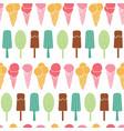 fun ice cream stripes seamless pattern vector image