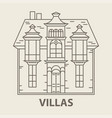 glamping villa accomodation vector image