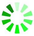 green progress upload download symbol vector image vector image