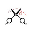 hair salon symbol vector image