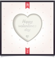 Heart in picture frame vector image vector image
