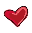 heart love shape vector image vector image