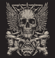 Heavy Metal inspired Skull Design vector image vector image