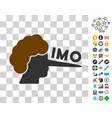 imo lier icon with bonus vector image vector image
