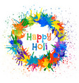 indian festival happy holi vector image