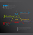 infographic pyramid chart diagram template vector image vector image