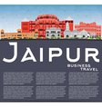 Jaipur Skyline with Color Landmarks Blue Sky vector image vector image