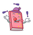 juggling diary mascot cartoon style vector image
