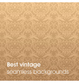 Light Brown Seamless Floral Background vector image vector image