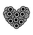long play love music icon vector image vector image