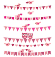 Love birds set vector image