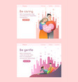 lovely couple hold big heart and hug each other vector image vector image