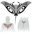 maori manta tattoo design vector image vector image