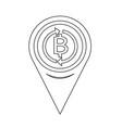 map pin pointer money thai bath icon vector image