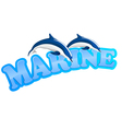 Marine dolphins vector | Price: 1 Credit (USD $1)