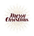 merry christmas greeting card xmas typography vector image vector image