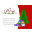 merry christmas wish advertising leaflet add text vector image vector image
