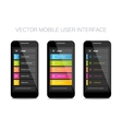 mobile user interface design vector image vector image