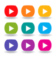 Movie Buttons vector image