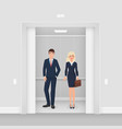 office business people couple in formal clothes vector image vector image