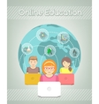 Online Education for Kids vector image vector image