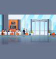 people visitors and banking managers communication vector image