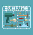 plastic model kits Construction tools House master vector image vector image