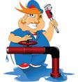 Plumber cartoon vector image vector image