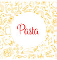 poster of pasta for italian cuisine design vector image vector image
