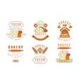 premium bakery logo design collection daily fresh vector image vector image