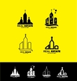 Real estate logo icon set building vector image vector image