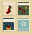 Retro style card templates grunge texture Merry vector image vector image